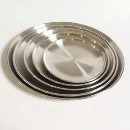 【小丸子生活百貨】14cm-韓式不銹鋼烤肉盤 深盤/燒烤/火鍋/露營/野餐/烤肉