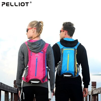 【露西小舖】Pelliot防潑水戶外騎行背包騎行包攻頂包自行車背包運動背包登山包雙肩背包雙肩背袋旅行包旅行背包旅行戶外包