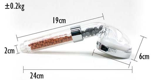 SPA蓮蓬頭(S)細緻強力水柱[陶瓷球過濾,除氯,花灑噴頭水柱加壓]