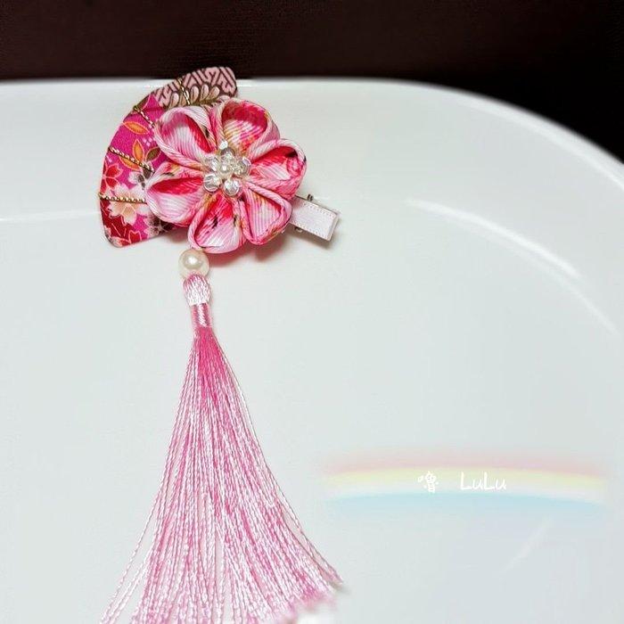 緞帶 花 和風 日式 和風扇 文創 手工 訂製 限量 可作 吊飾