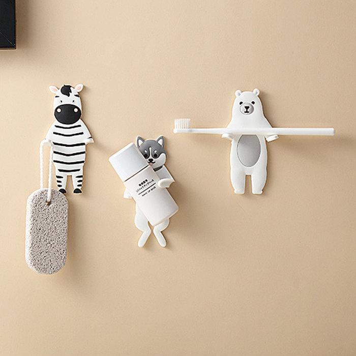 【寶貝日雜包】動物造型掛勾 牆面掛勾 無痕掛勾 浴室掛勾 廚房掛勾