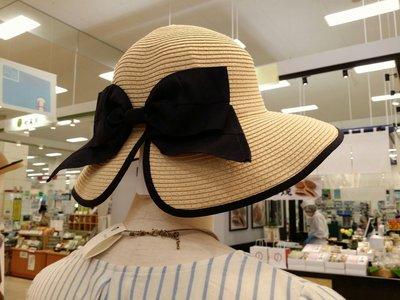 日本知名品牌 SHOO LA RUE 2017夏季最新 可折疊 蝴蝶結編織帽 漁夫帽 草帽 防曬 低沿遮陽 透氣