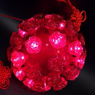 LANTERN 新年裝飾LED燈籠掛件小號婚房新房過道小燈籠發光酒店商場布置TL
