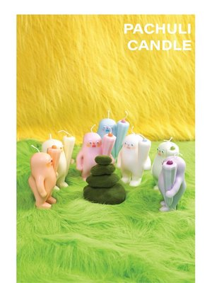 EDITOR01xBeanAndBean PACHULI帕秋利香薰蠟燭大豆蠟異形可愛禮物香薰蠟燭