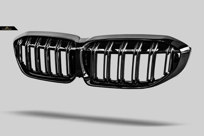 【政銓企業有限公司】BMW G20 G21 高品質 M3 雙線 亮黑 水箱罩 亮黑 鼻頭 現貨供應  免費安裝