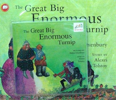 *小貝比的家*THE GREAT BIG ENORMOUS TURNIP/書+CD/7~12歲/動植物/團體組表演攻略