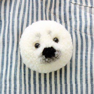毛線編織~毛球娃娃(海豹或白熊) 材料包~手工藝材料、編織工具、日本書、進口毛線、☆彩暄手工坊☆
