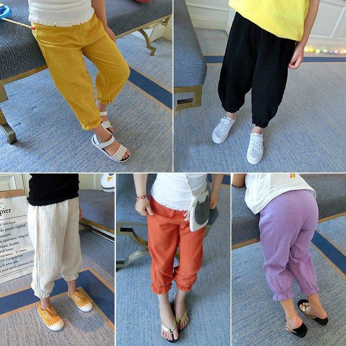 【溜。溜。選物】男女童 防蚊大PP燈籠褲 棉紗薄款寬鬆褲