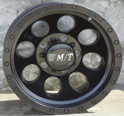 M/T品牌4X4精品JIMNY吉米專用鋁圈15吋5孔139.7 10J ET-44中心孔110 黑灰邊