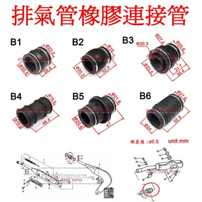 APO~F5-8-B~臺灣製排氣管連接管/排氣管相接管/排氣管結合管