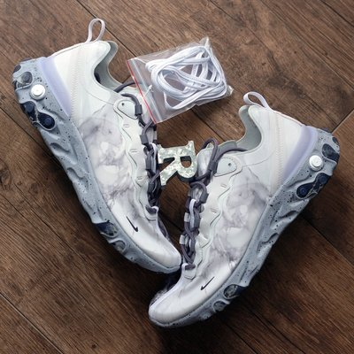 R'代購 Nike React Element 55 Kendrick Lamar Silver 白灰  大理石 CJ3312-001 男女
