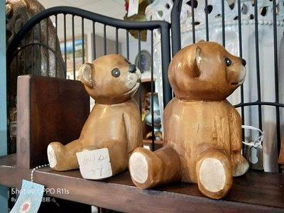 屏東易匠木雕小情侶熊,自用,送禮民宿.餐廳