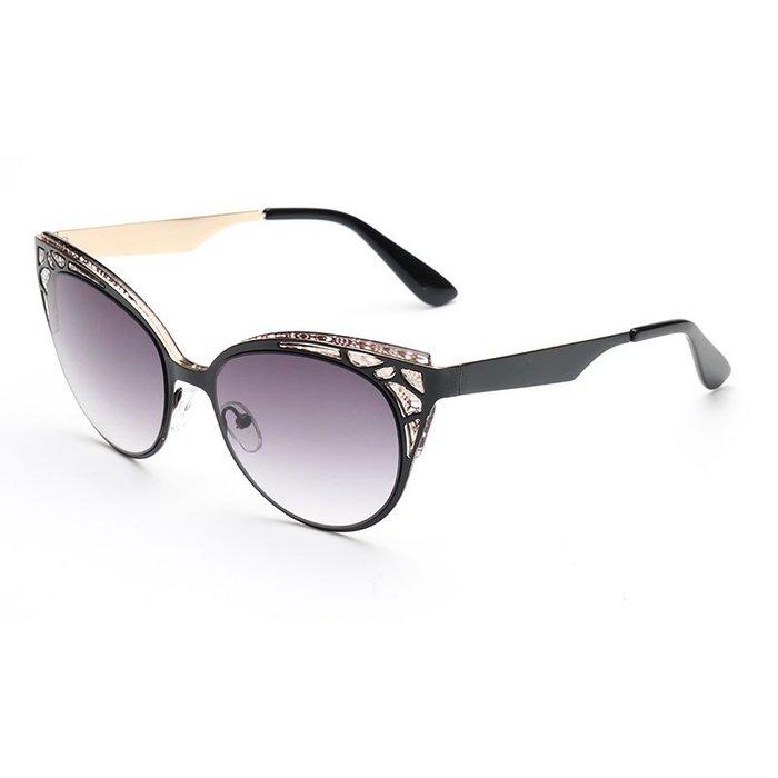 [馳騁]2001現貨7-11全家快速到貨韓國韓版鏡框墨鏡太陽眼鏡鏡框熱賣款太陽鏡 明星潮流復古琳達貓眼太陽鏡墨鏡1510