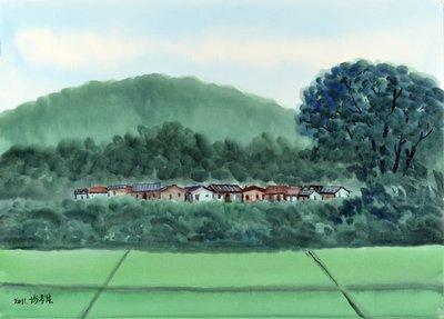 謝孝德 農村 2011 110X79cm 全開水彩 (H155桃園、客家、本土、台灣、師大、美展、藝術)