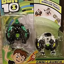 Ben 10 Omni Launch Transform Battle Green and White Figure