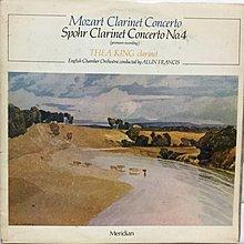 黑膠唱片 英版古典-Meridian/E77022/莫札特:A大調單簧管協奏曲/史博:單簧管第4號協奏曲/法蘭西斯