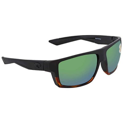 Costa Del Mar Bloke Green Mirror Polarized Plastic Square Men's  BLK男太陽眼鏡