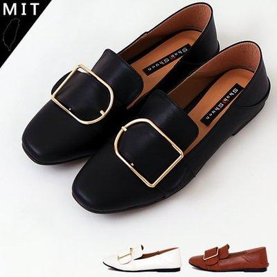 女款 兩穿後踩金屬扣簡約百搭 休閒平底鞋 穆勒鞋 MIT製造 Ovan