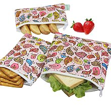 C 001 零食袋 三文治袋 snack bag Sandwich bag 這款需要訂貨,, set of 3