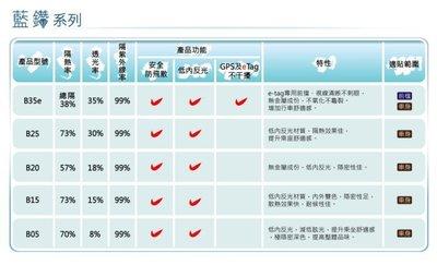 泰利隔熱紙【FSK 藍鑽B35e、B20、B05】前檔隱不影響GPS、ETAG、測速器 !歡迎詢問最低價格