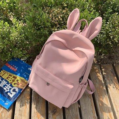 小花精品店-少女心可愛兔子書包女雙肩包原宿ulzzang高中生校園學生背包ins風