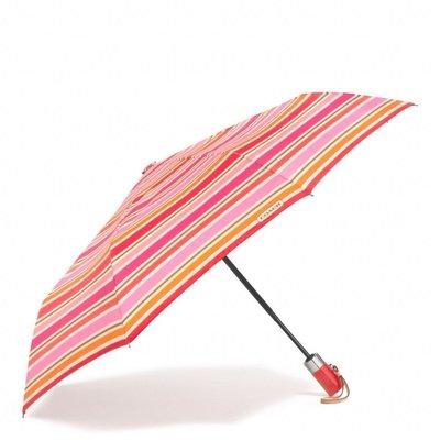 破盤清倉大降價!全新美國名牌 COACH 經典條紋陽傘雨傘折傘,自用送禮皆宜!低價起標無底價!本商品免運費!