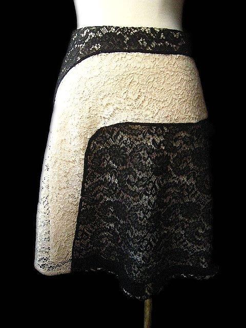 *Beauty*CARVEN黑色米白拼接蕾絲裙  原價31800元