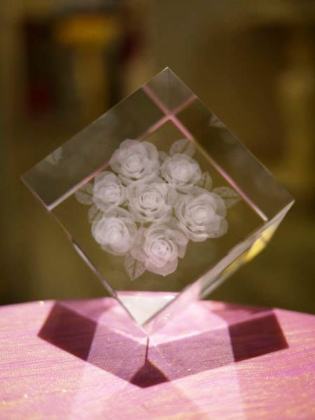 【芮洛蔓 La Romance】璀璨水晶 - 玫瑰花 / 擺飾 / 擺件 / 情人節