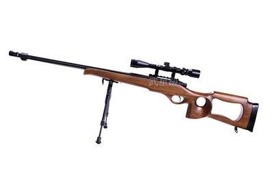 台南 武星級 WELL MB09 狙擊槍 手拉 空氣槍 木紋 (BB槍BB彈長槍步槍卡賓槍馬槍瞄準鏡狙擊鏡腳架