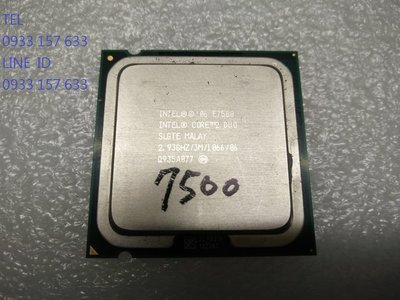 售 Intel  E7500 775    雙核心  CPU    正式版   每顆只要40元...  拆機良品
