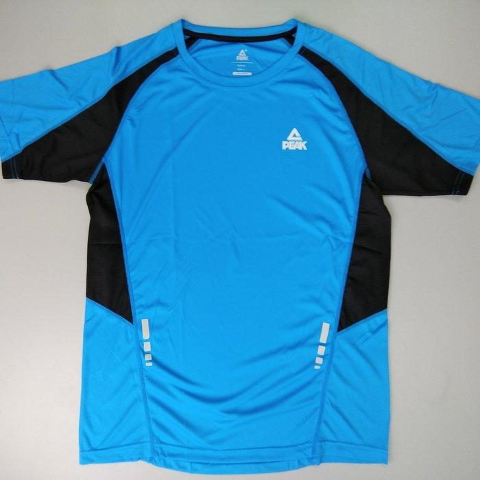 PEAK 運動機能排汗T(非緊身) 男款 藍色 亮禹體育PEAK台灣經銷商