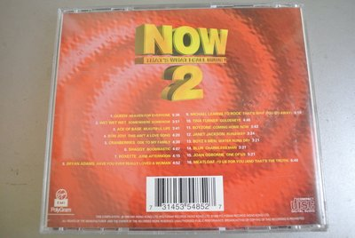 CD ~ NOW THAT'S WHAT I CALL MUSIC 2 ~1996 EMI 5354852