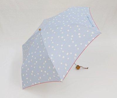 aquas hack 日本 超撥水 折傘 輕量傘 收傘立即甩乾 (顏色:天空藍白點點) 【Home Deco 玩樂家】