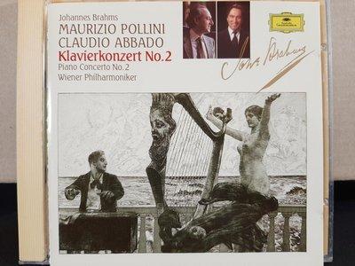 Pollini,Abbado,Wiener Phi,Brahms-P.c No.2,波里尼鋼琴,阿巴多指揮維也納愛樂,演繹布拉姆斯第二號鋼琴協奏曲,如新。