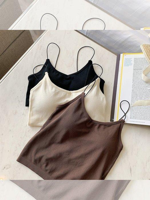 ❤Princess x Shop❤夏季必備帶胸墊吊帶背心DL9052440正韓國連線吊帶褲洋裝一字領露肩