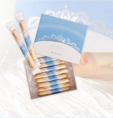 Ariel Wish日本tiffany藍皇冠限量版喜餅YOKU MOKU法式原味雪茄蛋捲禮盒16入幸福的婚禮小物-現貨1