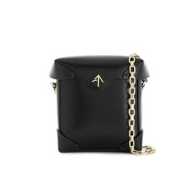 [全新真品代購] Manu Atelier mini Pristine 黑色皮革 鍊包 / 桶包 / 側背包