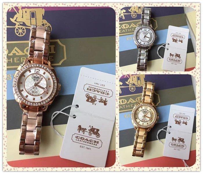 NaNa代購 COACH 三色可選 精美漂亮 石英手錶 氣質女款 附代購憑證