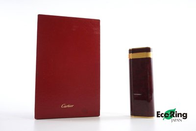 [EcoRingHK]*Cartier Plaque or G Lighter Gold Plated Wine Red*RankAB-197006685-