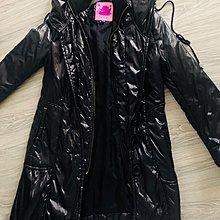 ROBYN HONG 黑色荷葉裙擺羽絨外套