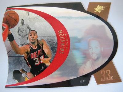 ~ Alonzo Mourning ~金版 1996-1997年SPX 名人堂.NBA球星 第2年雷射卡