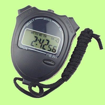 5Cgo【權宇】TA228 體育專用 黑色 掌上型 電子碼錶 分段顯示 計時器 計時計 鬧鐘 整點報時 含稅會員扣5%