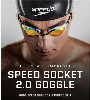 ~BB泳裝~ SPEEDO 成人競技鏡面泳鏡 Speedosocket 黑 日本製