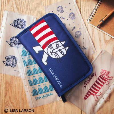 ☆Juicy☆日本雜誌附錄北歐風 Lisa Larson 刺蝟 多功能 小物包 手拿包 護照夾 收納包 7297
