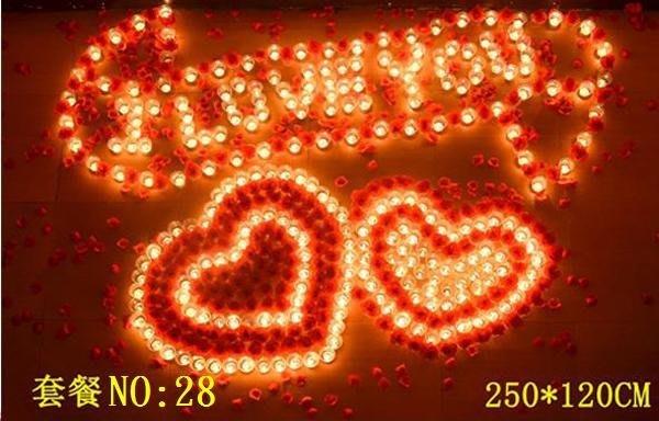 ☆創意小物店☆ 心型套餐NO:28/排字蠟燭/求婚蠟燭/生日蠟燭/情人節禮物 浪漫表白必備