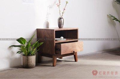 [紅蘋果傢俱]MJ009 北歐 日式 實木傢俱 床頭櫃 抽屜櫃  客廳 臥室 儲物 收納櫃