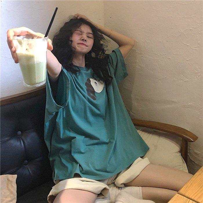 小香風 短袖T恤 時尚穿搭 網紅同款洋氣流行上衣服女夏超火ins潮 韓版 寬松短袖T恤