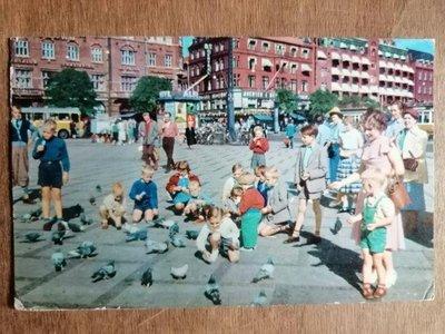 ??老明信片 實寄明信片 丹麥??寄美國 風景攝影