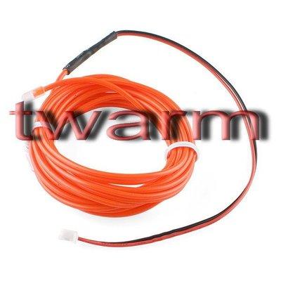 《德源科技》r) Sparkfun原廠 EL Wire冷光發光條3m - Red紅色 (COM-10191)