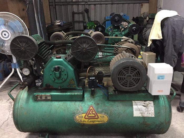 中古3HP復盛牌空壓機相東元馬達熱賣中(收購.買賣.維修.保養空壓機,請見關於我)